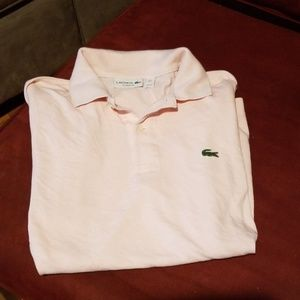 GUC Lacoste pink polo
